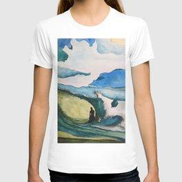 Watercolor Surfer T-shirt