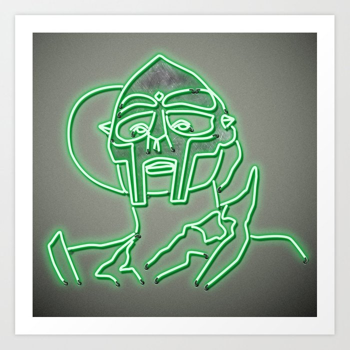 MF Doom - Neon  Sign Kunstdrucke