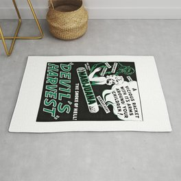 Black and White Reefer Madness Movie Poster Rug