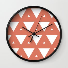 Terra Cotta Triangles Wall Clock