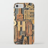 letters iPhone & iPod Cases featuring Letters by BONB