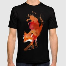 Vulpes vulpes Black Mens Fitted Tee MEDIUM