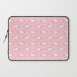 Brittany Spaniel dog breed floral silhouette dog gifts spaniel lovers Laptop Sleeve