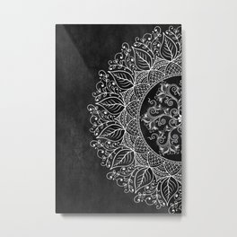 Mandaleaf - Black Metal Print