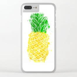 Pineapple Graffiti Clear iPhone Case