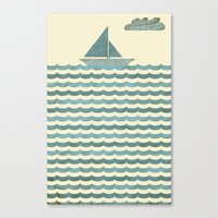 sailboat Canvas Prints featuring SailBoat by Jeremy Lobdell