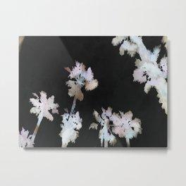 Tropical Palms On Black Background Metal Print