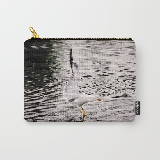 Seagull dancing on the lake  Carry-All Pouch