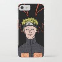 naruto iPhone & iPod Cases featuring Naruto by nu boniglio