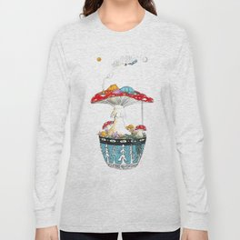Fungi Nights - Mushroom Forest Tent Camping Long Sleeve T-shirt
