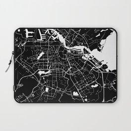 Amsterdam Black on White Street Map Laptop Sleeve