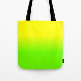 Neon Yellow and Neon Yello Green Ombré  Shade Color Fade Tote Bag