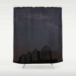 Farmyard Milky Way Shower Curtain