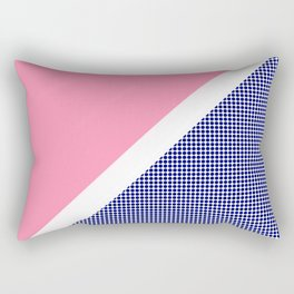 Pink Solid and Navy Dotted Rectangular Pillow