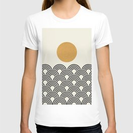 Sun & Wave - Oriental Pattern T-shirt