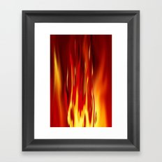 Into the fire 2. Framed Art Print