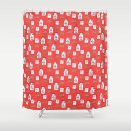 Gluten free Christmas Shower Curtain