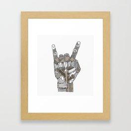 Mech-Rock Framed Art Print