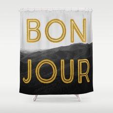Bonjour (Mountains) Shower Curtain