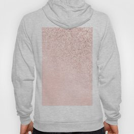 She Sparkles Rose Gold Pastel Light Pink Luxe Hoody