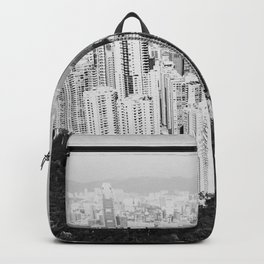 Hong Kong Cityscape // Sky Scraper Skyline Landscape Photography Black and White Buildings Backpack