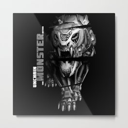 Unchain The Monster Within - Tiger Metal Print