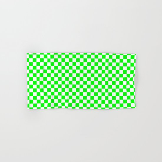 Checker (Green/White) Hand & Bath Towel