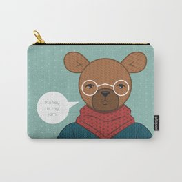 """""""Honey is my Jam"""" Hipster Bear Carry-All Pouch"""