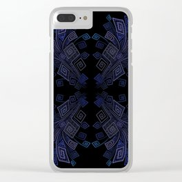 3D Psychedelic Squared Spirals Illusion Clear iPhone Case