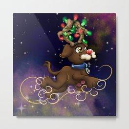 Reindeer Puppy Metal Print