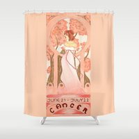 cancer Shower Curtains featuring Cancer by Sprat