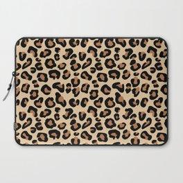 Leopard Print, Black, Brown, Rust and Tan Laptop Sleeve