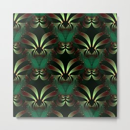 Jewels of Garnet and Emerald Abstract #212 Metal Print