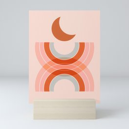 Cradle the moon - twilight Mini Art Print