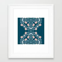 folk Framed Art Prints featuring Folk by katharine stackhouse