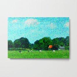 Landscape near Duivendrecht Metal Print