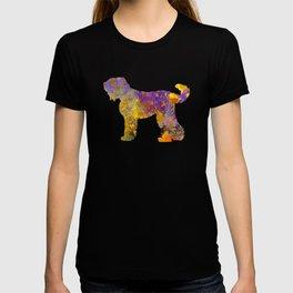 Russian Black Terrier in watercolor T-shirt