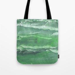 Dark sea green watercolor Tote Bag