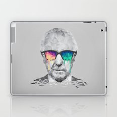 Albert Hofmann - Psychedelic Polygon Low Poly Portrait Laptop & iPad Skin