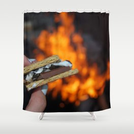 Campfire S'mores Shower Curtain
