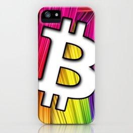 Bitcoin magic colours iPhone Case