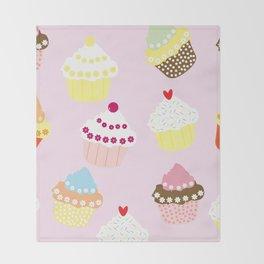 I Love Cupcakes Throw Blanket
