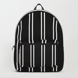 Nice Stripes in Black Backpack