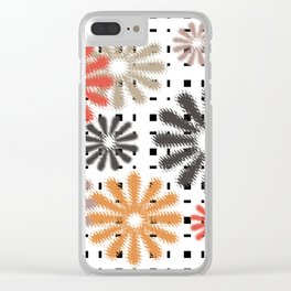 Abstraction. Colorful daisies background. Clear iPhone Case