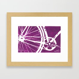 Purple Bike Framed Art Print