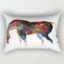 Painted Horse Rectangular Pillow