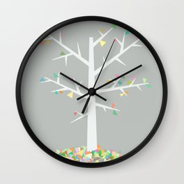 Graphic Tree  Wall Clock