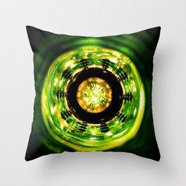 Green Center Throw Pillow