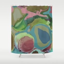 Abstract Multi-coloured 1061 Shower Curtain