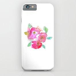 Pink Watercolor Flowers // Floral Feelings iPhone Case